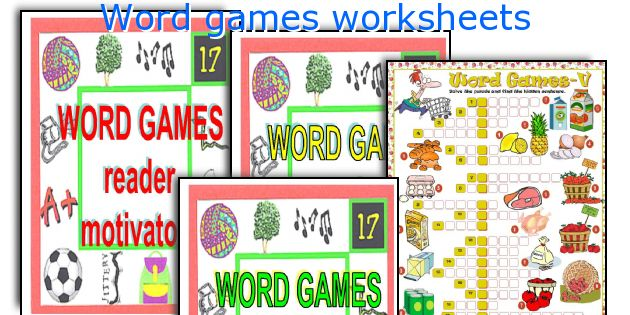 Word games worksheets