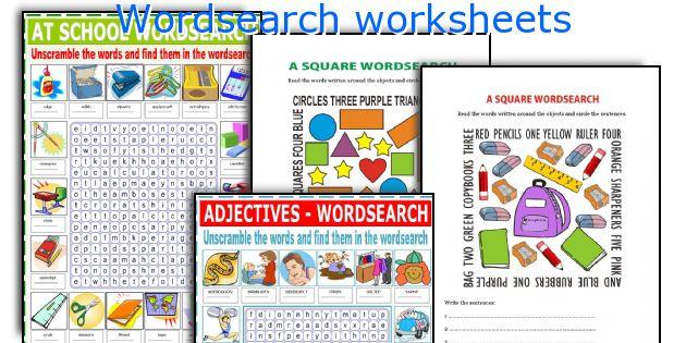 Wordsearch worksheets