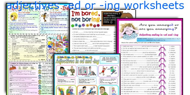 adjectives -ed or -ing worksheets