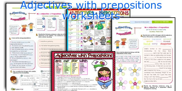 Adjectives with prepositions worksheets