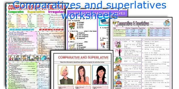 Comparatives and superlatives worksheets