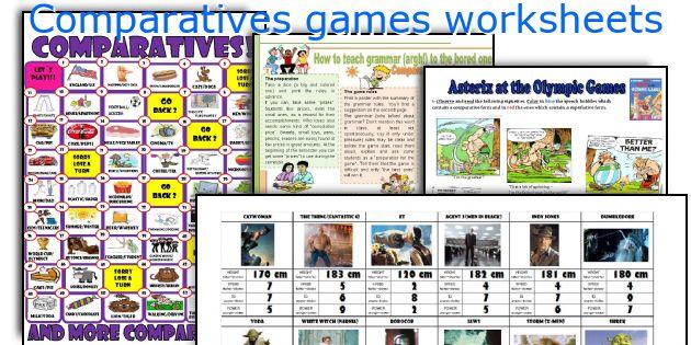 Comparatives games worksheets