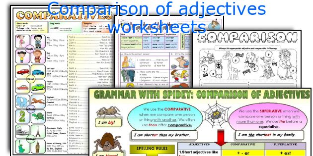 Comparison of adjectives worksheets