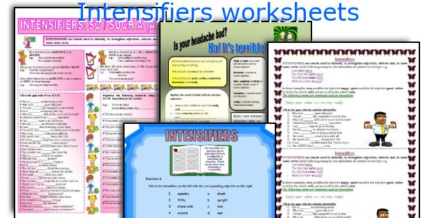 Intensifiers Worksheets. Worksheet. Worksheet On Extreme Adjectives At Clickcart.co