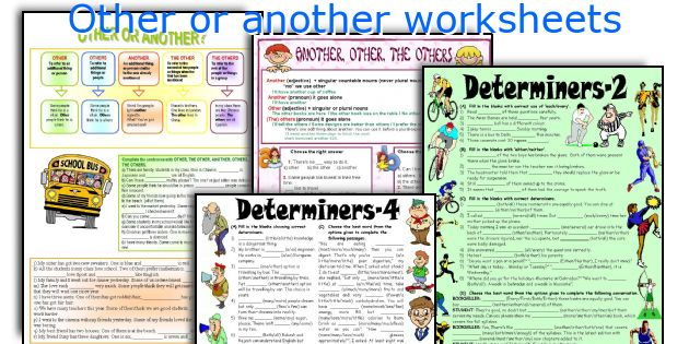 Other or another worksheets