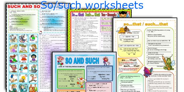 So/such worksheets