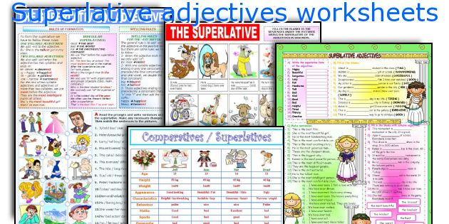 Superlative adjectives worksheets