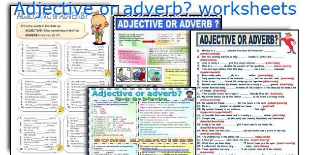 Adjective or adverb? worksheets