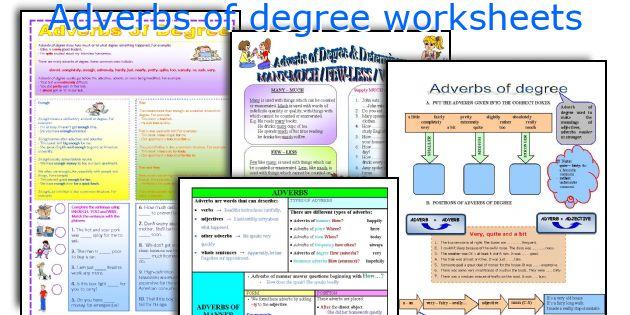 English teaching worksheets: Adverbs of degree