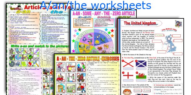 A/an/the worksheets