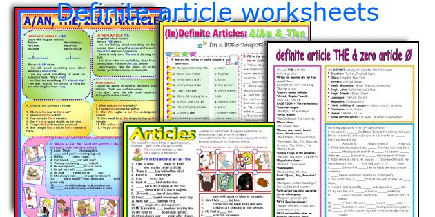 Definite article worksheets