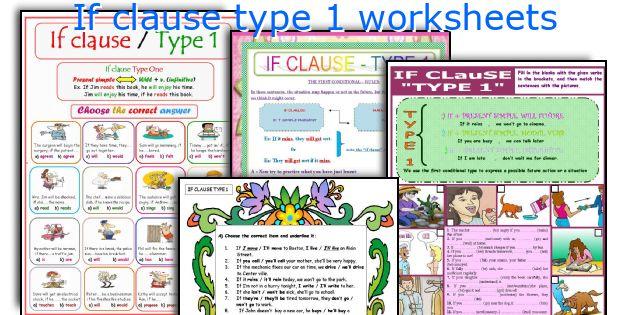 English teaching worksheets: If clause type 1