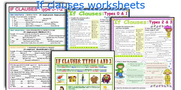If clauses worksheets
