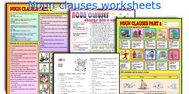 English teaching worksheets Noun clauses – Noun Clauses Worksheet