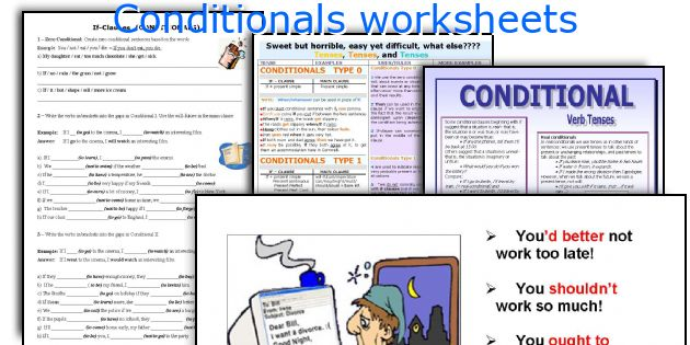 Conditionals worksheets