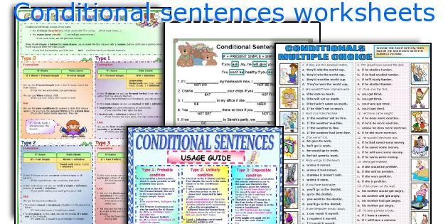 Conditional sentences worksheets
