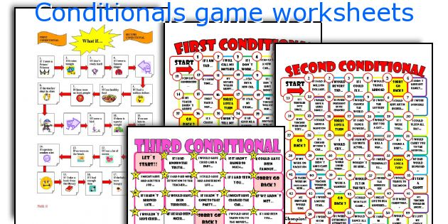 Conditionals game worksheets