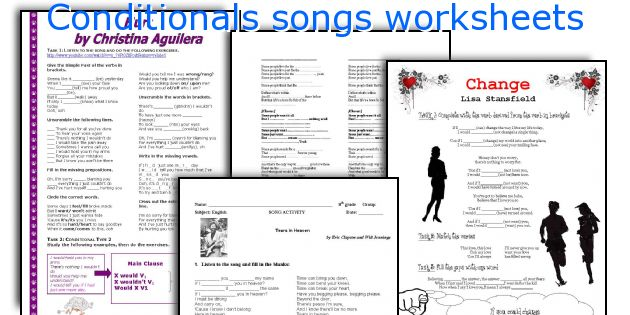Conditionals songs worksheets