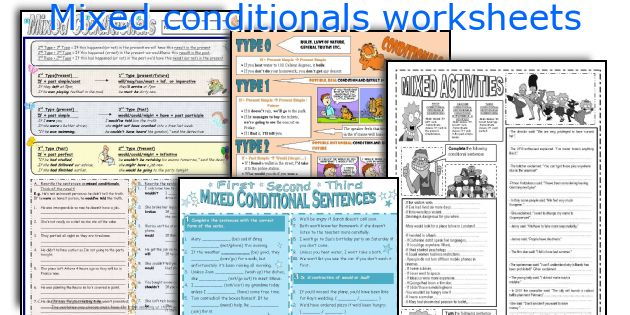 Mixed conditionals worksheets
