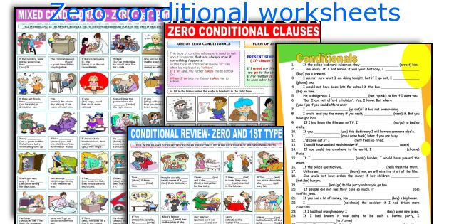 Zero conditional worksheets