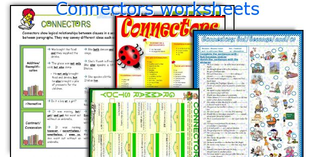 Connectors worksheets