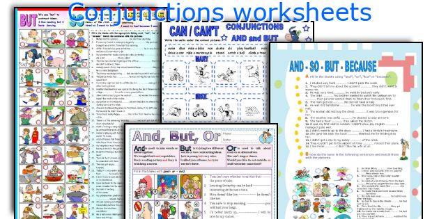 English teaching worksheets Conjunctions – Conjunctions Worksheets