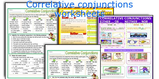 English teaching worksheets Correlative conjunctions – Correlative Conjunctions Worksheet