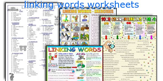 linking words worksheets