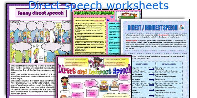 Direct speech worksheets