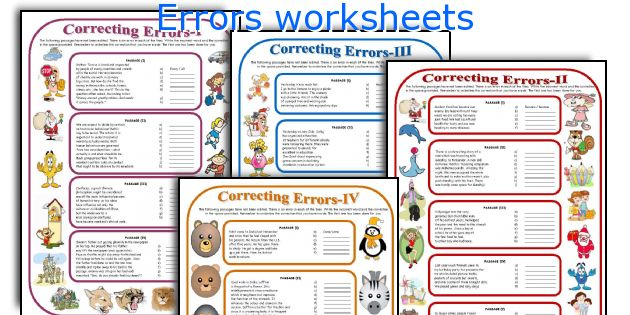 Errors worksheets
