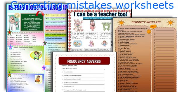 Correcting mistakes worksheets