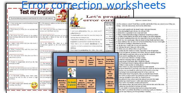 Editing sentences worksheets middle school