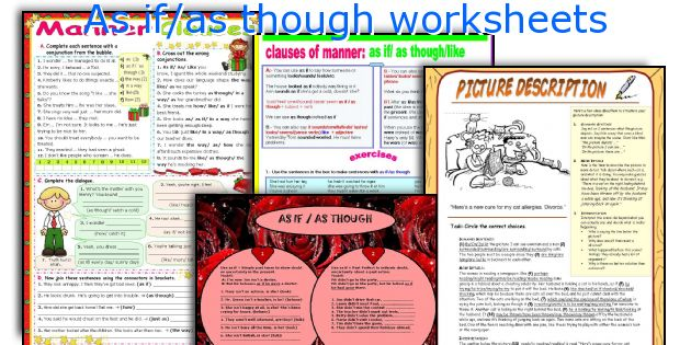 As if/as though worksheets