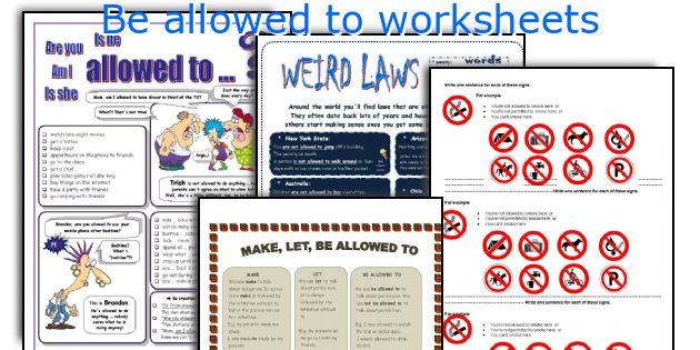 Be allowed to worksheets