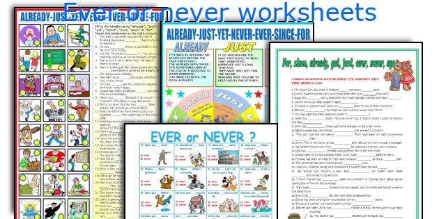 Ever or never worksheets