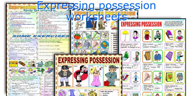 Expressing possession worksheets