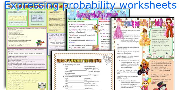 Expressing probability worksheets