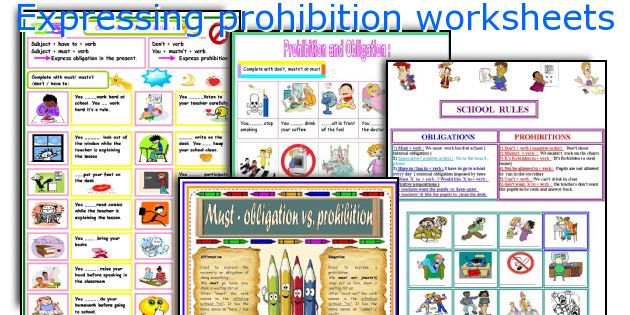 Expressing prohibition worksheets