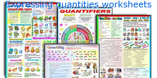 Expressing quantities worksheets