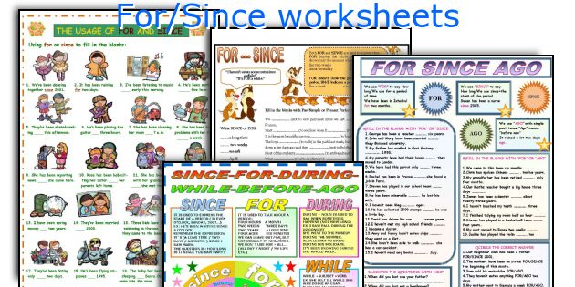 For/Since worksheets