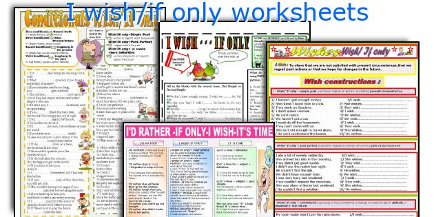 I wish/if only worksheets