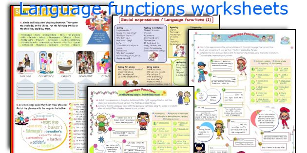 Language functions worksheets