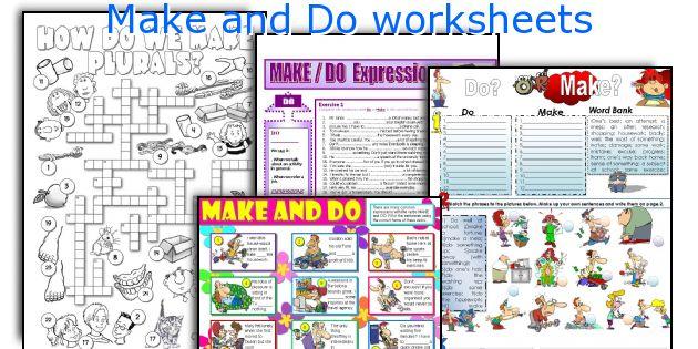 Make and Do worksheets