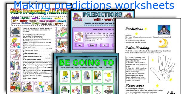 English teaching worksheets Making predictions – Making Predictions Worksheet