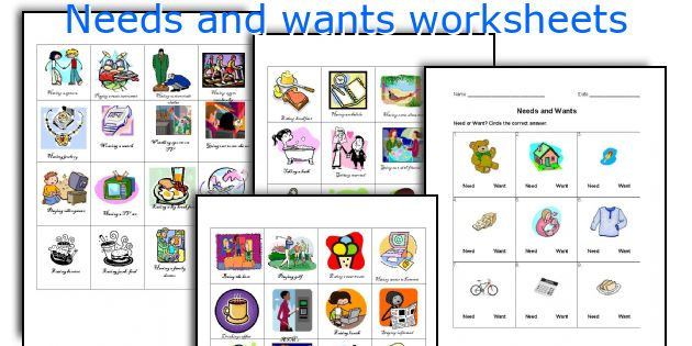 English teaching worksheets Needs and wants – Needs Vs Wants Worksheets
