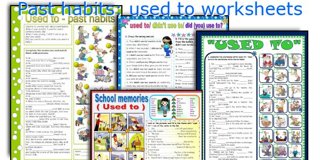 Past habits: used to worksheets