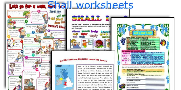 Shall worksheets