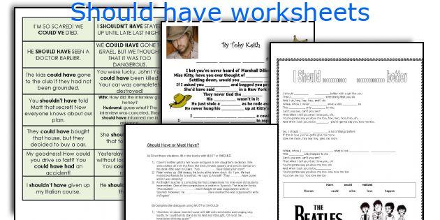 Should have worksheets