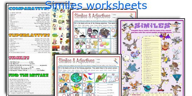 Similes worksheets