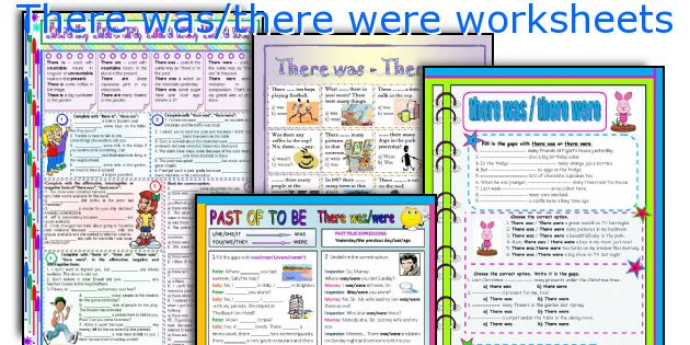 There was/there were worksheets